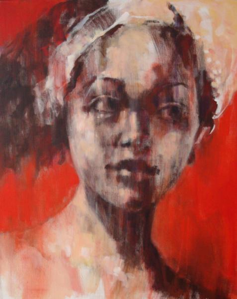 Balinese vrouw (80X100)klein